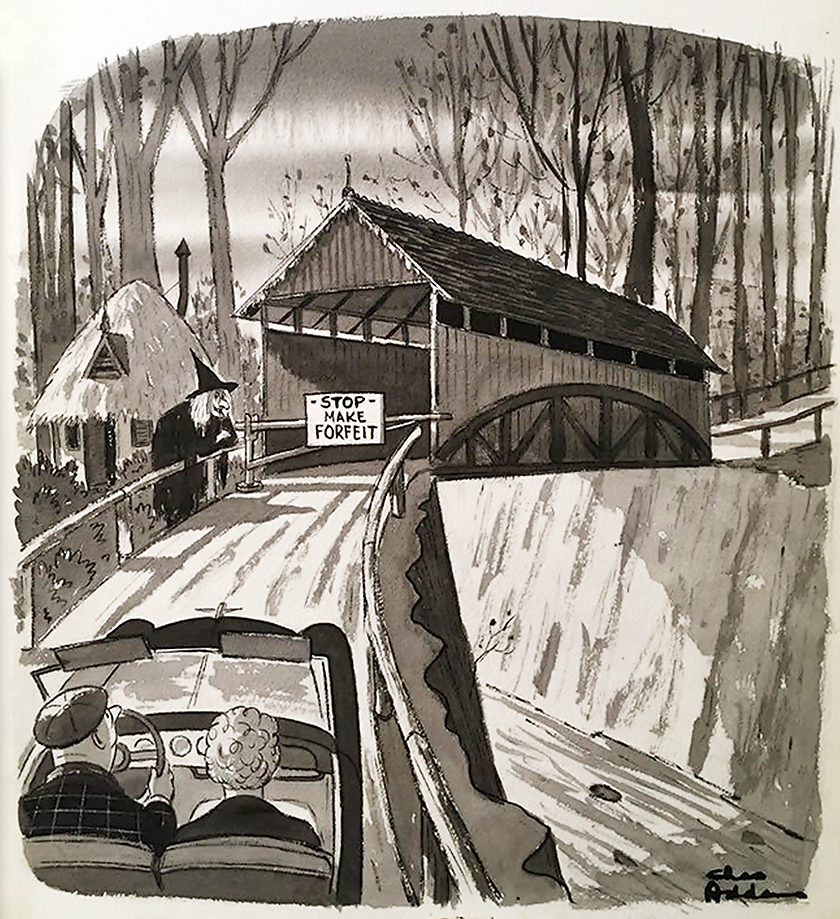 Charles Addams - Stop Make Forfeit