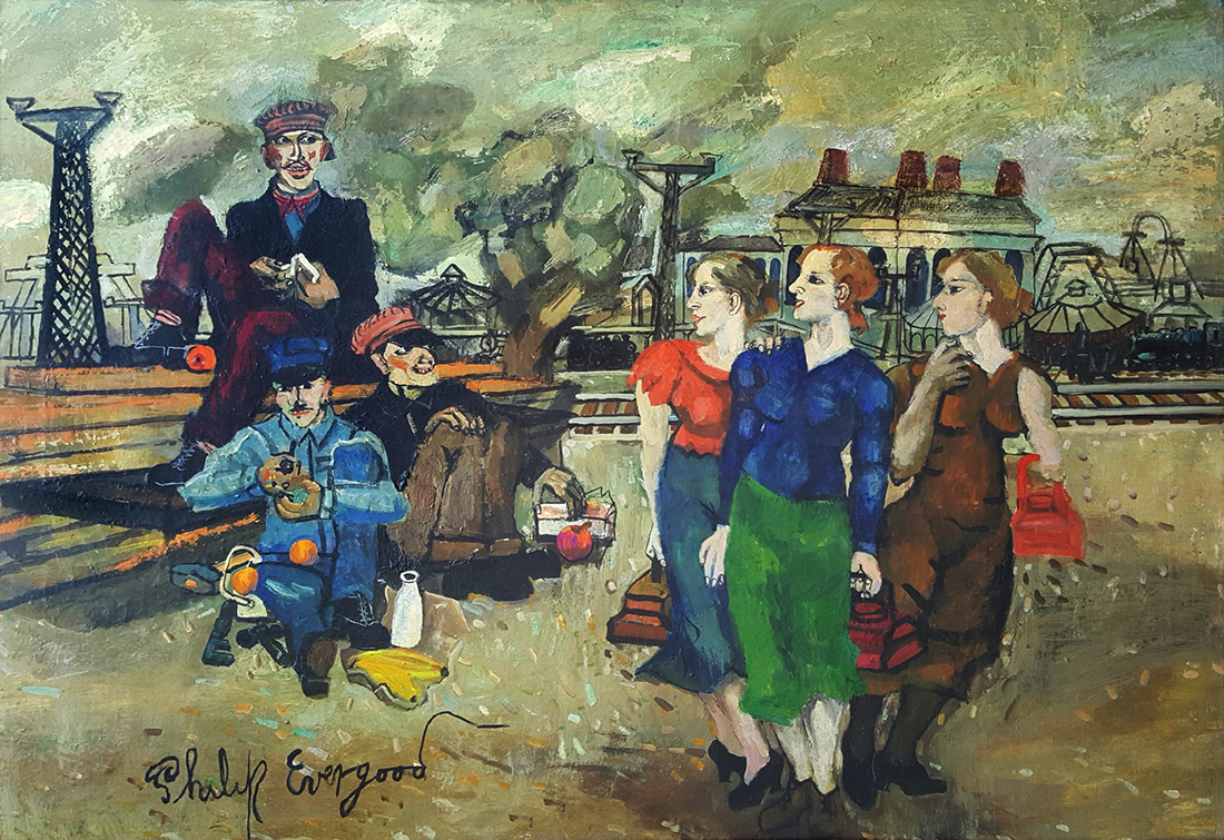Philip Evergood - Railroad men's wives