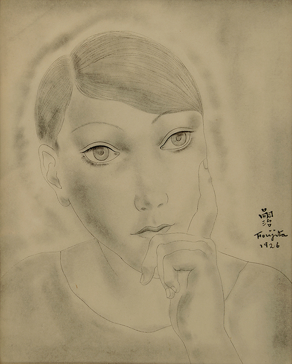 Leonard Tsuguharu Foujita - Head of a Young Girl