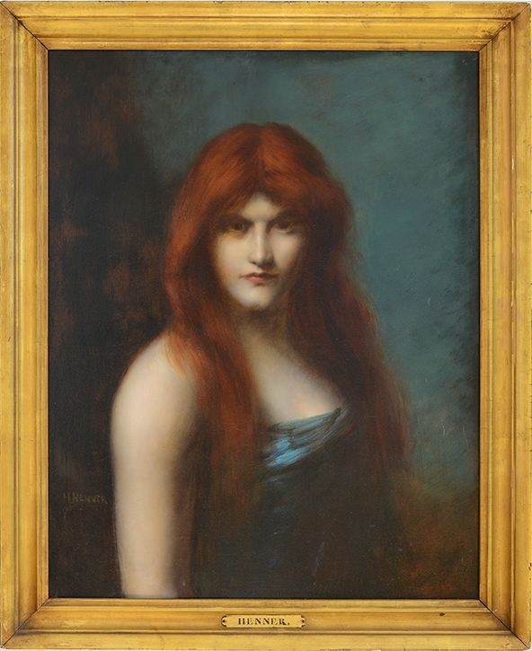 Jean Jacques Henner - Portrait of a Woman