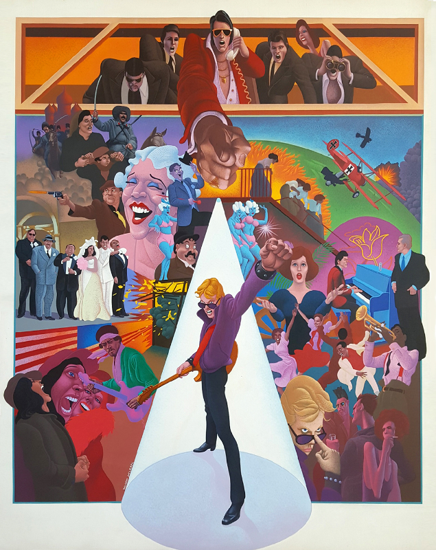 Wilson McLean - Movie Poster Illustration for 'American Pop'