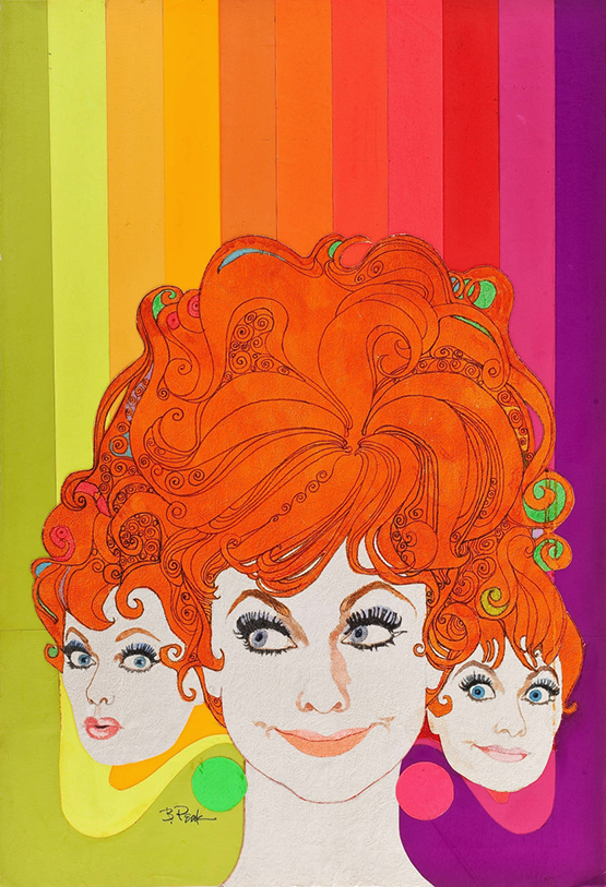 Bob Peak Lucille Ball TV Guide cover