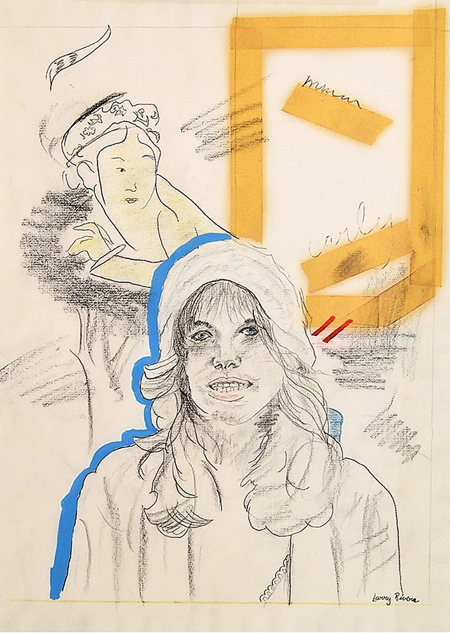 Larry Rivers - Drawing of singer Carly Simon