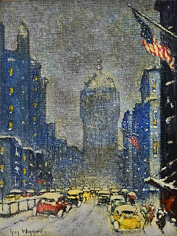 Guy Carleton Wiggins - Park Avenue Winter